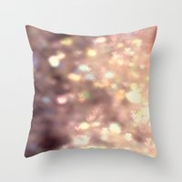 Glitters in your Heart  - JUSTART ©, digital art.    Throw Pillow