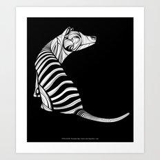 Thylacine (Tasmanian Tiger) Art Print
