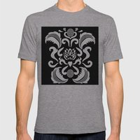 White_lace Mens Fitted Tee Athletic Grey SMALL