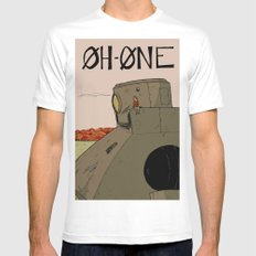OhOne COLOR SMALL White Mens Fitted Tee