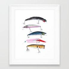 Fishing Lures Framed Art Print