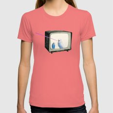 Talk Show Womens Fitted Tee Pomegranate SMALL