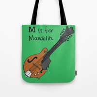 M is for Mandolin Tote Bag