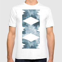 BLUE MOON Mens Fitted Tee White SMALL