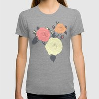 roses Womens Fitted Tee Tri-Grey SMALL