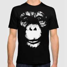 Everything's More Fun With Monkeys! SMALL Mens Fitted Tee Black