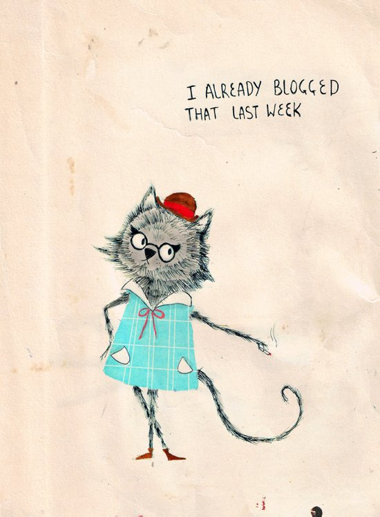 Hipster cat blogger Art Print