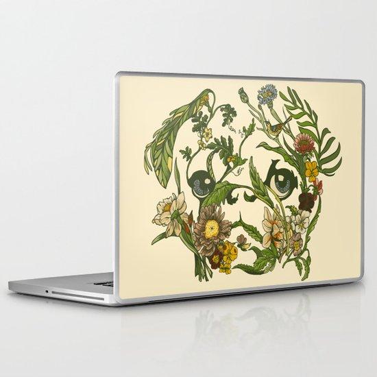 Botanical Pug Laptop & iPad Skin