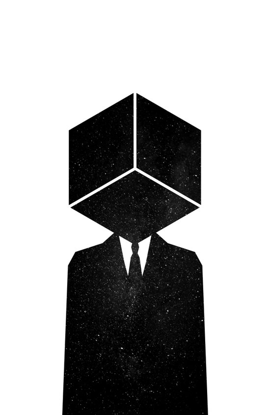 The son of cube Art Print