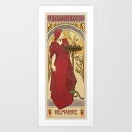 The Red Priestess Art Print