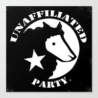 UNAFFILIATED PARTY STENC… Canvas Print