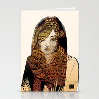 Stationery Card featuring Native girl by RAIKO IVAN雷虎