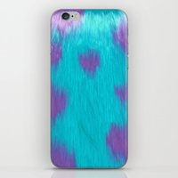 Blue Monster fur. iPhone & iPod Skin