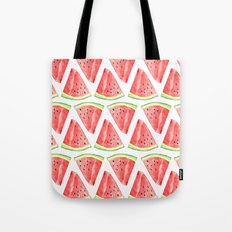 Watermelon Red Piece Tote Bag