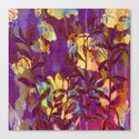 yellow flowers on purple Canvas Print