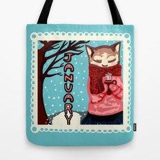 January Cat Tote Bag