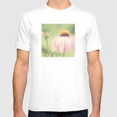 Little Honey Bee White Mens Fitted Tee SMALL