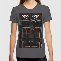 Distracting a Ghost: 1st Rendition  Womens Fitted Tee Asphalt SMALL