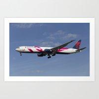 Delta Airlines Boeing 767 Art Print