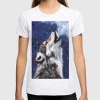 Wolf's breath Womens Fitted Tee Ash Grey SMALL