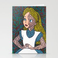 Alice In Psychedelic Stationery Cards