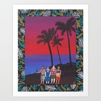 Sunset Tourists / Hawaii Art Print