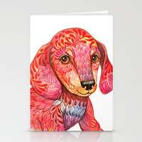 Mini Dachshund  Stationery Cards