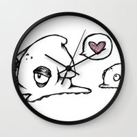 Squid Love Wall Clock