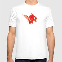 Moirè Goldfish Mens Fitted Tee White SMALL