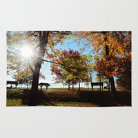 Autumnal sunshine Rug