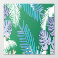 PALMS PRINT Green Canvas Print