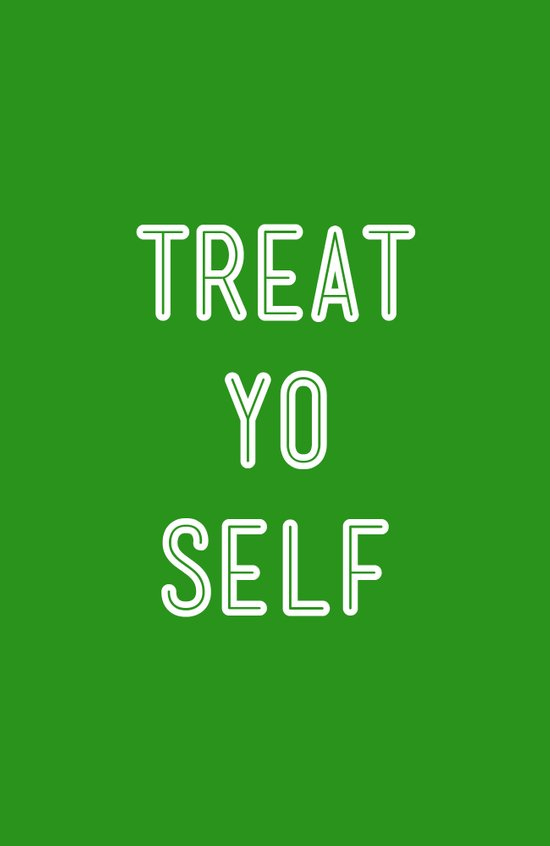 Treat Yo Self Green - Parks and Recreation Canvas Print