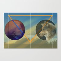 Man to Wolf Canvas Print