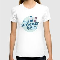 That summer feeling - Blue Womens Fitted Tee White SMALL