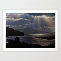 Sun Rays Over Eilean Don… Art Print