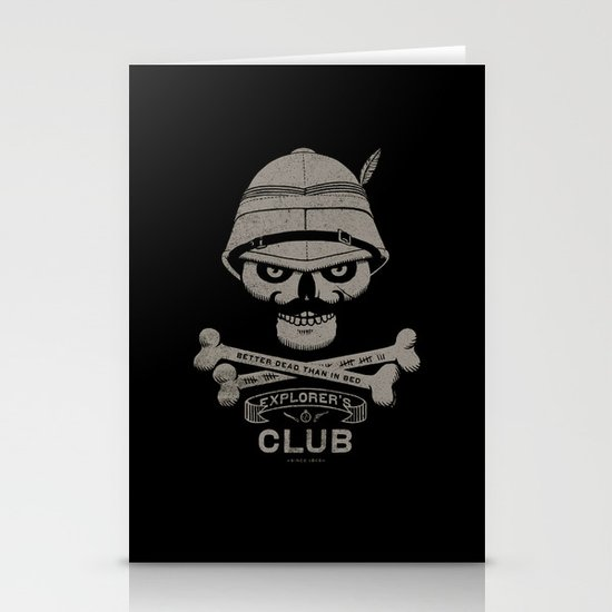 Explorer's Club Stationery Card