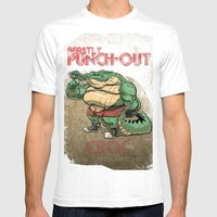 Beastly Punch-Out Mens Fitted Tee White SMALL