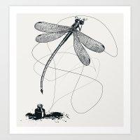Here, There & Back Again… Art Print