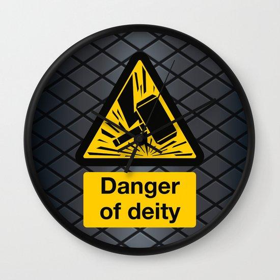 Danger of Deity Wall Clock