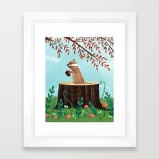 Woodland Friends - Chipmunk Framed Art Print