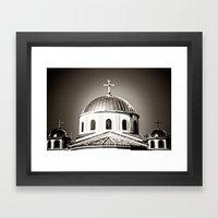 The Domes of St. Andrew Orthodox Church, Riverside, CA Framed Art Print
