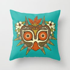 Tiki Majora Throw Pillow