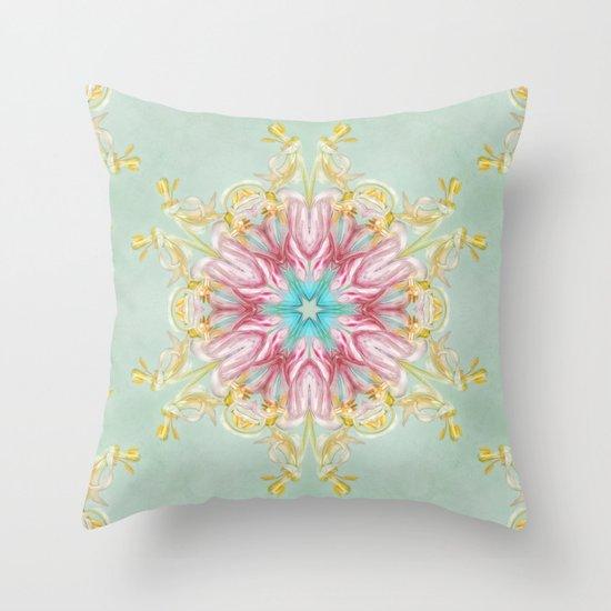 aging beauty (pattern/pillow) Throw Pillow