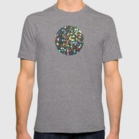 Sparkles: Paint Daubs Mens Fitted Tee Tri-Grey SMALL