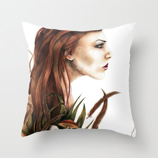 i love not man the less but nature more Throw Pillow