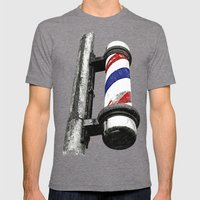 Haircuts here Mens Fitted Tee Tri-Grey SMALL