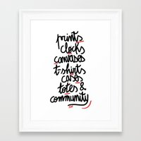 What Is All About Framed Art Print