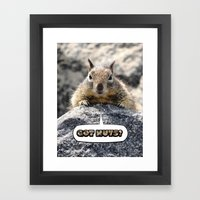 Got Nuts? Framed Art Print