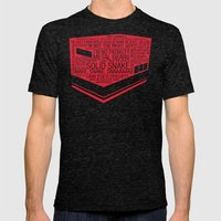Metal Gear Solid Typography Mens Fitted Tee Tri-Black SMALL