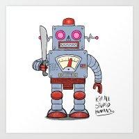 Duo Mace Bot Art Print